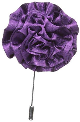 Stacy Adams Men's Flower Lapel Pin, Purple, One Size