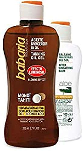 BABARIA aceite bronceador 200 ml + bálsamo after...