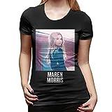 JEEZORN Top Tee Maren Morris Fashion T Shirts for Women Black XXL