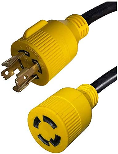 L14-30 Generator Power Cord - 25 Foot, 30 Amps, 125/250V, 4-wire Twist Lock Plug and Connector