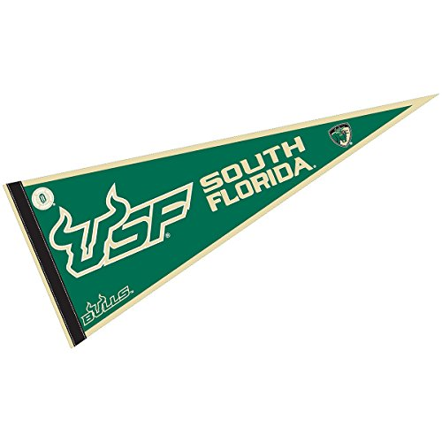 College Flags & Banners Co. USF Bulls Pennant Full Size Felt