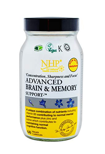 Natural Health Practice Brain and Memory Support Capsules (Pack of 60) B Vitamins & Healthy Brain Function