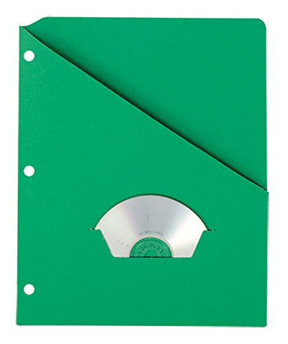 Pendaflex 32925 Essentials Slash Pocket Project Folders, 3 Holes, Letter, Green (Pack of 25)