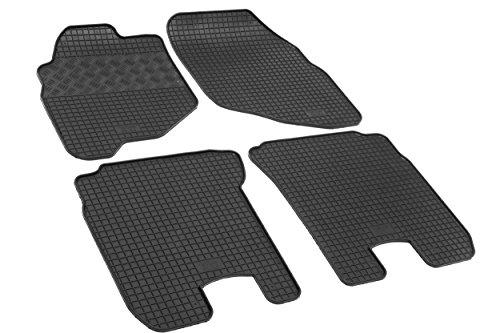 Maßgeschneiderte Fußmatten, Passende Gummimatten - Farbe: Schwar, RIGUM-1092-2