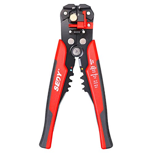 Wire Stripper, SEDY Wire Stripping Tool/Cutting Pliers Tool/Wire Crimping Tool, Self-Adjusting 8