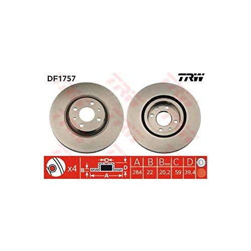 Preisvergleich Produktbild TRW DF1757 Bremsscheibe
