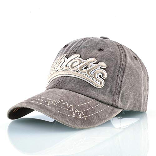 qqyz2323 Gewaschen Denim Baseball Caps Women Men Brand Snapback Dad Hats Outdoor Sport Athletic Caps Boys Girls Skateboard Bone Hip Hop Hut Hat 56-59CM Khaki
