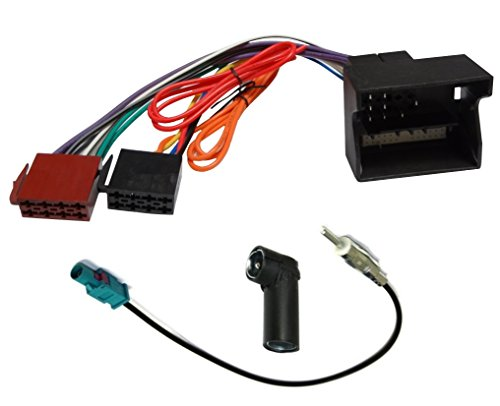 AERZETIX: ISO adattatore cavi per autoradio e adattatore per cavo antenna