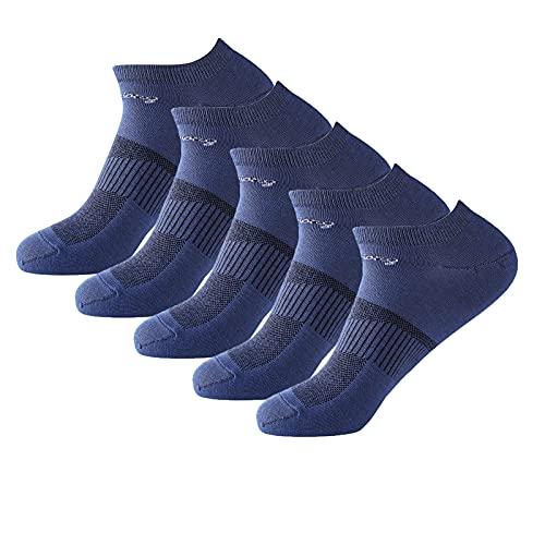 5pcs Running Socks,Best-fit Trainer Socks Cushioned Sports Socks Anti Blister Socks Cushioned Ankle Trainer Socks for Men (B)