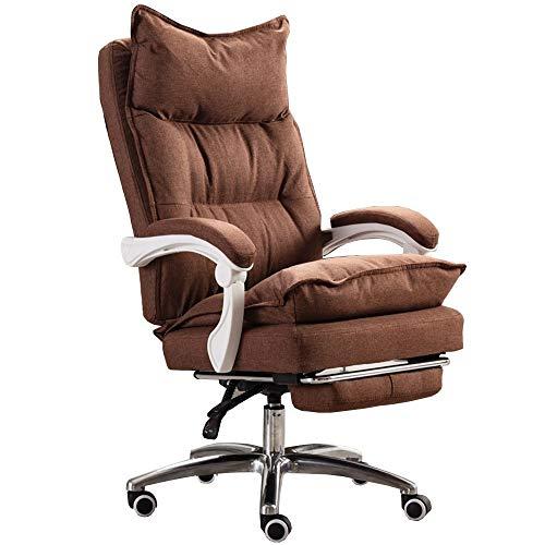 JIAYUAN Bürostühle Chefsessel Computer Stuhl aus Stoff 2-lagiges Design Drehstuhl mit hoher Rückenlehne 175 ° große Neigung Mit Fußstütze Gaming Gaming Stuhl Tragfähigkeit 150kg Konferenzstühle