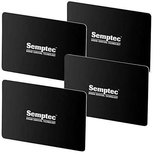 Semptec Urban Survival Technology EC Karten Schutz: 4er-Set RFID- & NFC-Blocker-Karte im Scheckkarten-Format (Card Guard)