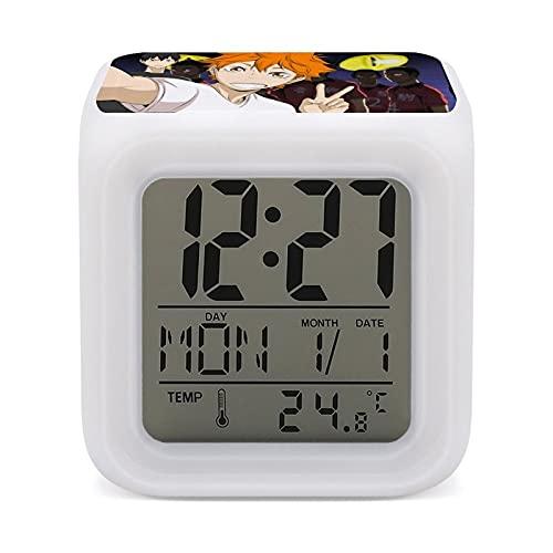H-aikyuu! Reloj despertador colorido que cambia de color para niños Sleep Coach Sleep Sounder Wake-Up Light y Night Light Talla única
