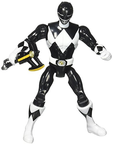 Original Mighty Morphin Power Rangers ZACH Black Ranger 8' Action Figure (1993 Bandai)