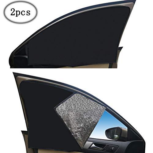 ZATOOTO Sonnenschutz fürs Auto Vorhang, Sonnenschutz Magnetisch für UV-Schutz, Hitzeschutz, Schwarz