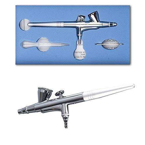 0,2 mm Mini-Nadel Airbrush, 2CC Kapazität Double-Action-Trigger-Spray-Tool für Make-up, Körperbemalung, Nagel, Tätowierung, Kuchen-Dekoration