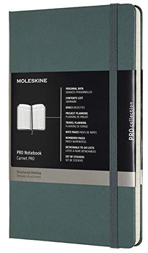 Moleskine Pro Notebook, Taccuino Professionale da Ufficio, Copertina Rigida, Formato Large, Colore Verde Bosco