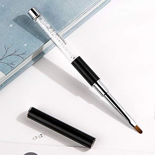 Jieqiong Portez Le Couvercle Brosse de Maquillage Sourcils féminins Brosse Mini Petit correcteur Brosse Courte Brosse à lèvres,Noir