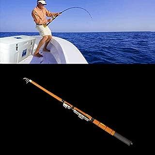 Fishing 48cm Portable Telescopic Winter Ice Fishing Rod Fishing Tackle Pole, Extension Length: 2.1m Fishing Rod