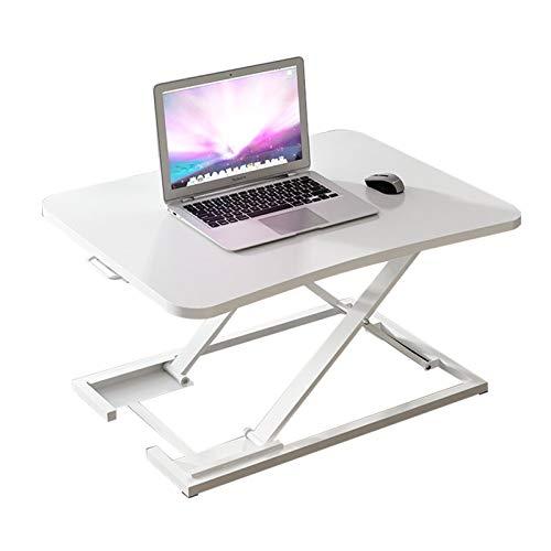 LiRuiPengBJ Standing desk converter Sit- Stand Desk Converter, Height Adjustable Office Workstation with 73x47 cm Platform Ergonomic X-Frame Riser (Color : White)