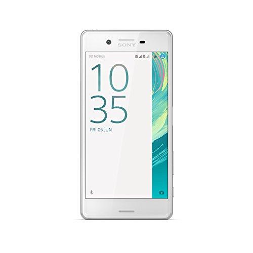 Sony Xperia X - Smartphone de 5'' (4G, WiFi, Bluetooth, Nano-Sim, 64-bit Qualcomm Snapdragon 650, memoria interna de 32 GB, 3 GB de RAM, cámara de 23 MP, Android) blanco