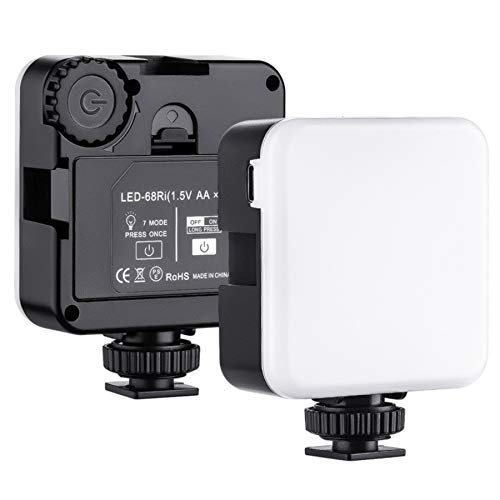 HAUHAU RGB Led Videolicht, Kamera Licht,Fotolicht Fotografie Studiolicht 3200K-5600K,Streaming Licht CRI95+ für alle Smartphone und DSLR Kameras