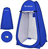 Brekmis Camping Toilet Pop Up Privacy Tent Changing Room Tent Portable Toilet for Camping Portable Shower Silver Coated Dressing Room Tent UV Protection Privacy Shelter Camping Cabana Blue