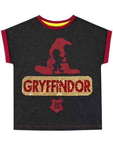 Camiseta para niñas de Harry Potter. ¡Deja que el Sombrero Seleccionador coloque a tu hechicera en su casa favorita con esta encantadora camiseta de Gryffindor! En los icónicos colores de Gryffindor, rojo y gris, este top manga corta trae la silueta ...