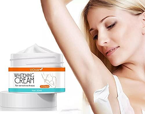 Crema aclaradora para áreas privadas, Crema blanqueadora para pieles oscuras Blanqueamiento de axilas Iluminador de rayos debajo del brazo