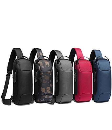 Waterproof, stain-resistant Sling Cross Body Backpack, USB Anti-Theft Men's & Women trend...
