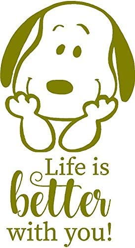 Be Yourself Inspirational Snoopy Quotes Home Bedroom Vinyl Wall Decal Decoration