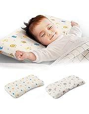 SleepTom ベビー枕 【カバー2種類セット】 赤ちゃんまくら 向き癖防止 寝姿を矯正 頭の形が良くなる 汗とり 快眠 通気 綿100% 低反発ピロー メーカー直営・1年保証付