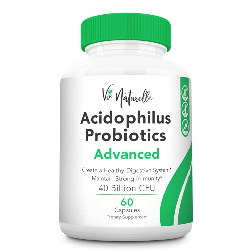 Acidophilus Probiotics for Women, Men & Kids - Immune Support & Booster - Daily Probiotic Supplements for Weight Loss, Gut Health & Digestive Health - Vegan Friendly, Organic Probiotics - 60 Capsules