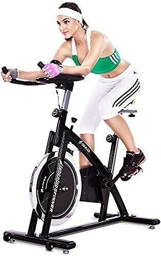 FGVBC Bicicleta estática Bicicleta de Ejercicio Bicicleta estacionaria con Pantalla LCD Equipo de Ejercicios para pies Ajustable con frecuencia cardíaca