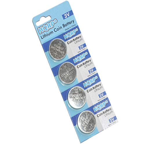 HQRP 4-Pack Coin Lithium Battery Compatible with MyQ Garage Door Sensor