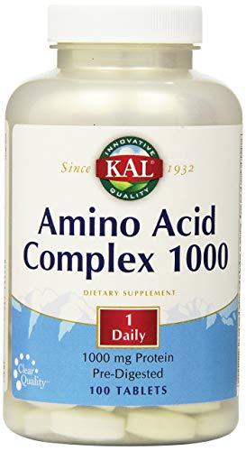 KAL Amino Acid Complex Tablets, 1000 mg, 100 Count