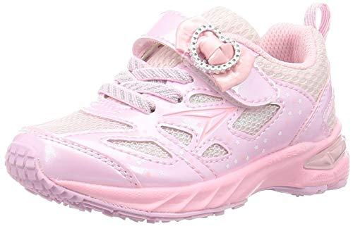 [シュンソク] スニーカー 運動靴 幅広 軽量 15~23cm 2.5E キッズ 女の子 LEC 6440 ピンク 20 cm