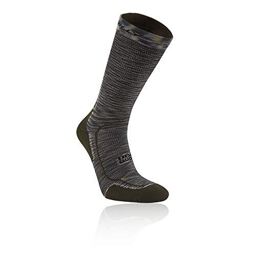 Hilly Clothing Lite Comfort Crew Socke, Unisex S Khaki/Noir