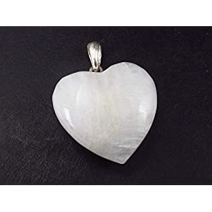 """Cryolite Heart Pendant From Greenland - 1.1"""""""