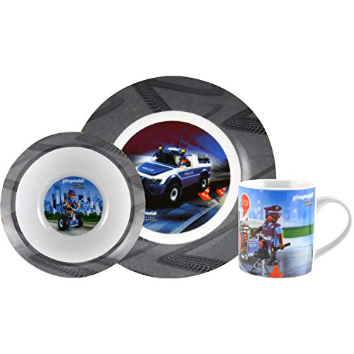 Playmobil City Action – Frühstücksset 3tlg. Kindergeschirr mit Polizei Motiv