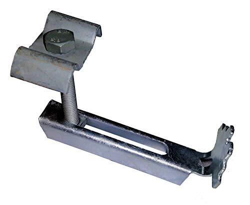 Gitterrostsicherung Halteklammer mit Agraffe für Gitterrost 30x30 feuerverzinkt