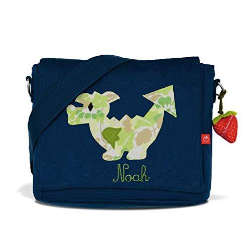 Kindergartentasche & Kindergartenrucksack in einem: Drache für Jungen (mit Namen)