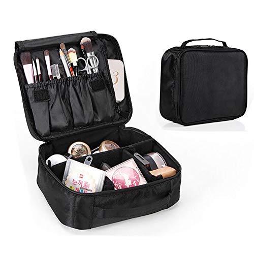 JYZ Make-up Fall, Doppelte wasserdichte Oxford-Tuch-Reise-Speicher-Schönheits-Kasten-Künstler-Aufbewahrungstasche mit justierbarer Teiler