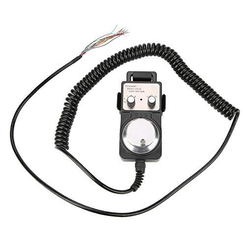 Elektronisches Handrad Manueller Impulsgenerator-Controller Handrad-Encoder Hängendes Handrad mit Not-Aus-Schalter zur Steuerung von Werkzeugmaschinen 5V CNC 4 Achsen