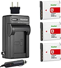 Kastar NP-BG1 Battery (3-Pack) and Charger Kit for Sony NP-FG1, BC-CSG and Sony Cyber-Shot DSC-H50, Cyber-Shot DSC-H10, Cyber-Shot DSC-W120, Cyber-Shot DSC-W170, Cyber-Shot DSC-W300 Digital Cameras