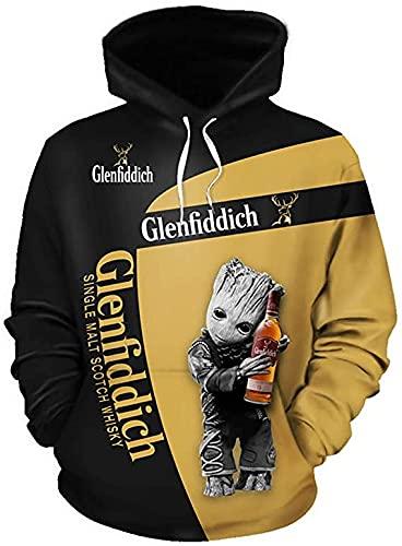 De gama alta personalizar gl-en-fid-d-ic-h 3D logo impresión digital suéter camisas moda...