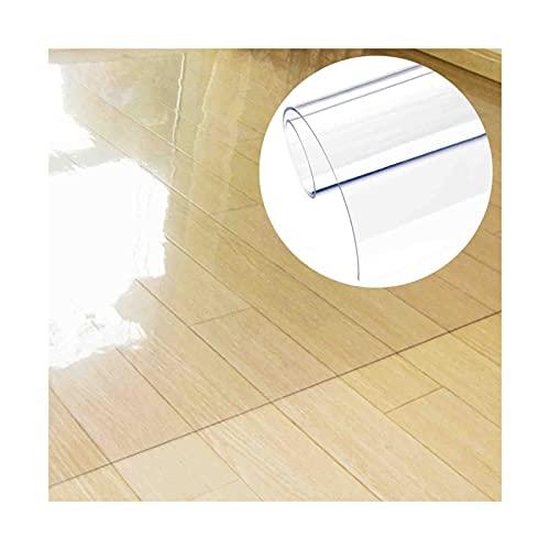 ZENGAI Transparente Alfombrilla para Silla De Oficina para Piso Duro, Durable Alfombrilla Protector Suelo para Silla Rodante, Limpieza Fácil Alfombra Alfombra (Color : 1.6mm, Size : 80x90cm)