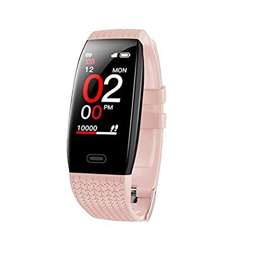 Fitness Tracker, Activity Tracker Smart Watch with Heart Rate Monitor, IP67 Waterproof Smart Sport Watch with Step Counter,Smart Bracelet with Sleep Monitor, Calorie Counter,Temperature Monitor(PInk)