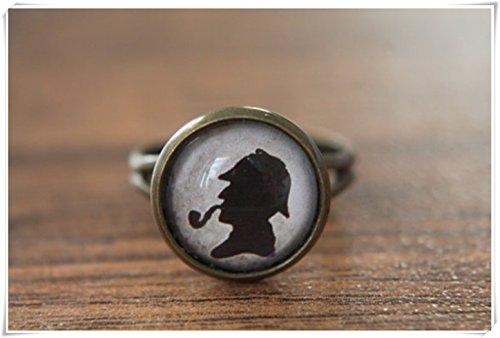 Elf House Anillo ajustable, cúpula de cristal, anillo de declaración, cúpula de cristal joyas, hecho a mano puro