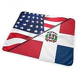 Cambiador de bandera de Estados Unidos y República Dominicana, impermeable, portátil, grande para cambiar pañales, funda de colchón para niños y niñas recién nacidos