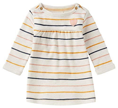 Noppies Baby-Mädchen G Dress LS Nababeep STR Kinderkleid, RAS1202 Oatmeal-P611, 62